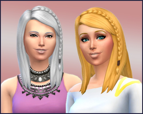 Sims 4 Lomy RC Hair Long Side Braid at CappusSims4You