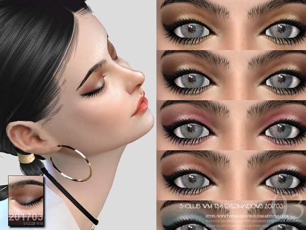 Eyeshadow F201703 by S Club WM at TSR image 45 Sims 4 Updates