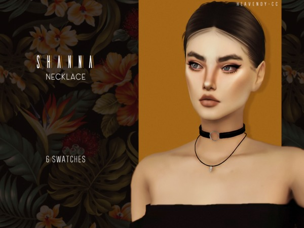 Sims 4 Shanna Necklace by Heavendy cc at TSR