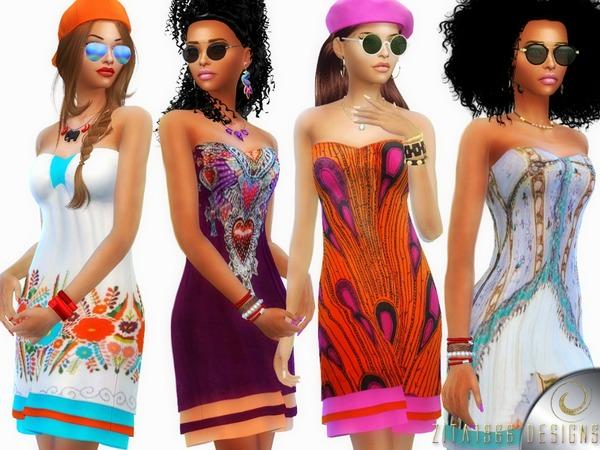 Bohemian Fusion Dress by ZitaRossouw at TSR image 4711 Sims 4 Updates