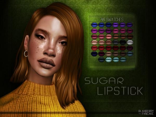 Sugar Lipstick by Blahberry Pancake at TSR image 475 Sims 4 Updates