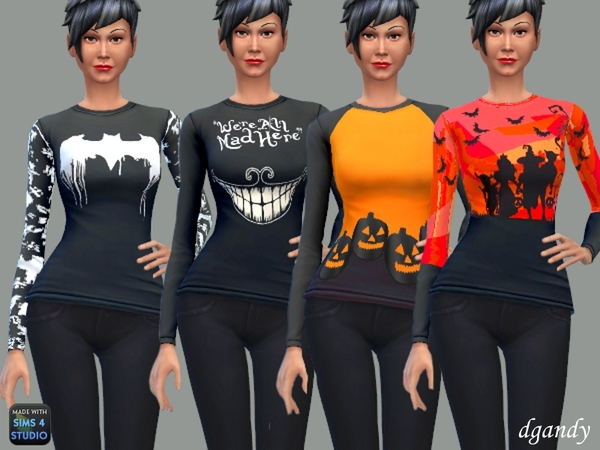 Halloween T Shirts by dgandy at TSR image 478 Sims 4 Updates