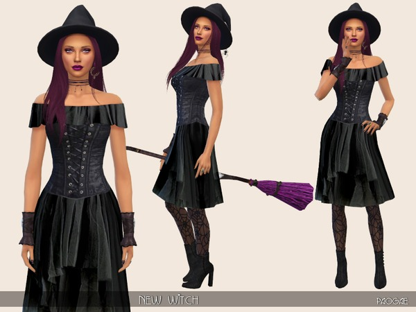 New Witch dress by Paogae at TSR image 488 Sims 4 Updates