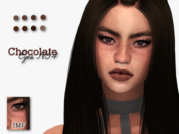 IMF Chocolate Eyes N.54 F/M by IzzieMcFire at TSR image 494 Sims 4 Updates