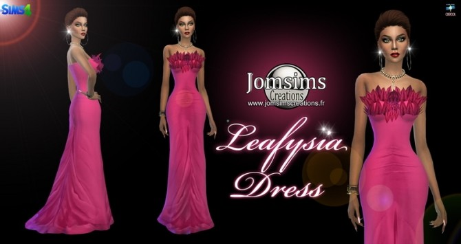 Leafysia Dress at Jomsims Creations image 496 670x355 Sims 4 Updates