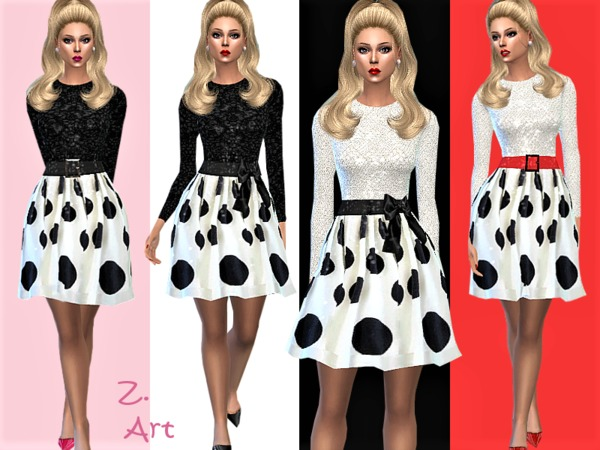 RetroZ 04 charming dress by Zuckerschnute20 at TSR image 50 Sims 4 Updates