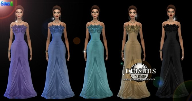 Leafysia Dress at Jomsims Creations image 506 670x355 Sims 4 Updates