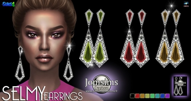 SELMY Earrings at Jomsims Creations image 5114 670x355 Sims 4 Updates
