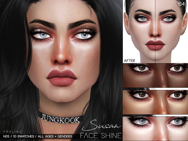Susan Face Shine N05 by Pralinesims at TSR image 513 Sims 4 Updates