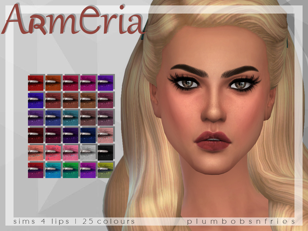 PnF Armeria Lips by Plumbobs n Fries at TSR image 517 Sims 4 Updates