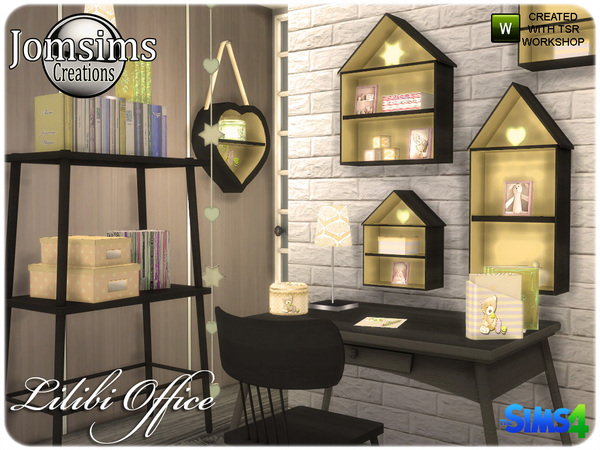 Lilibi office by jomsims at TSR image 520 Sims 4 Updates