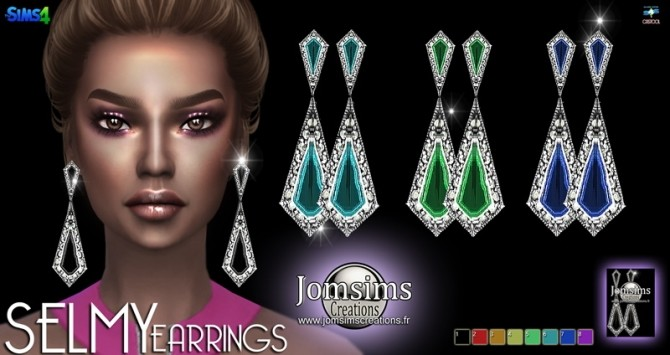 Sims 4 SELMY Earrings at Jomsims Creations