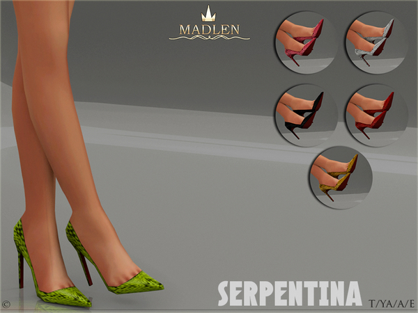 Sims 4 Madlen Serpentina Shoes by MJ95 at TSR