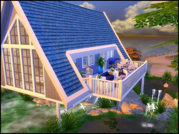 Sims 4 High Water A frame house by sparky at TSR