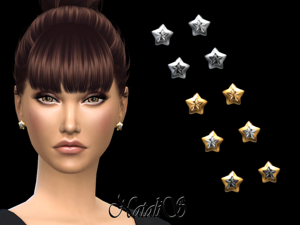 Sims 4 Star Stud Earrings by NataliS at TSR