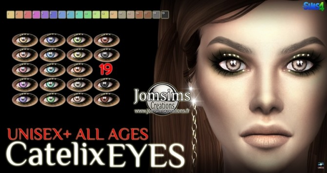 Catelix eyes and Ulnium eyeshadow at Jomsims Creations image 542 670x355 Sims 4 Updates