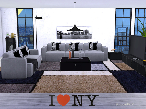 Sims 4 Living New York by ShinoKCR at TSR