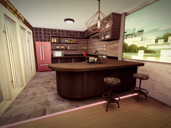 Sims 4 Melcave house by melcastro91 at TSR