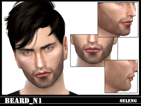 Sims 4 Beard N1 by Seleng at TSR
