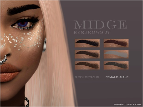 Sims 4 Eyebrows 07 Midge by ANGISSI at TSR