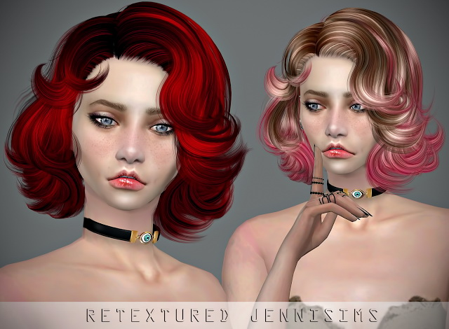Sims 4 Newsea NewVegas Hair retexture at Jenni Sims
