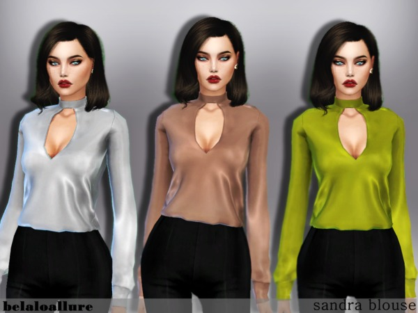 Sims 4 Sandra blouse by belal1997 at TSR