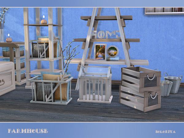 Sims 4 Modern farmhouse set by soloriya at TSR