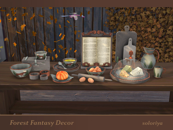 Forest Fantasy Decor set by soloriya at TSR image 5716 Sims 4 Updates