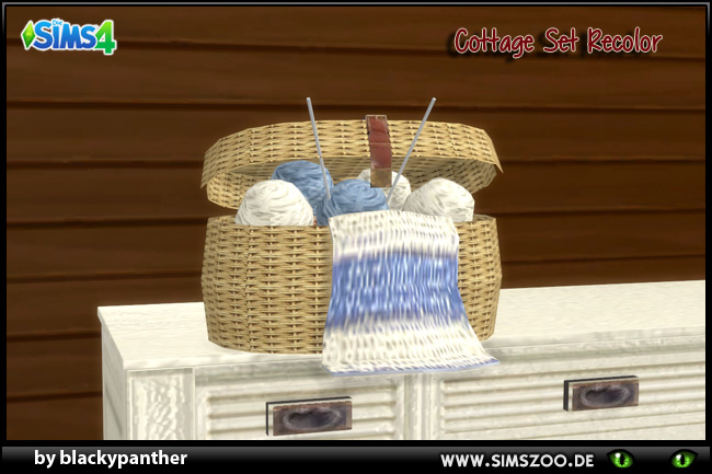 Sims 4 Cottage Set recolor by blackypanther at Blacky's Sims Zoo