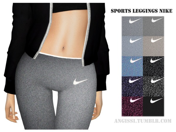 Sims 4 Sport leggings by ANGISSI at TSR