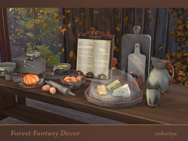 Forest Fantasy Decor set by soloriya at TSR image 5817 Sims 4 Updates