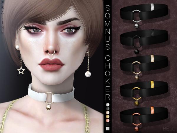 Sims 4 Somnus Choker Set by Pralinesims at TSR