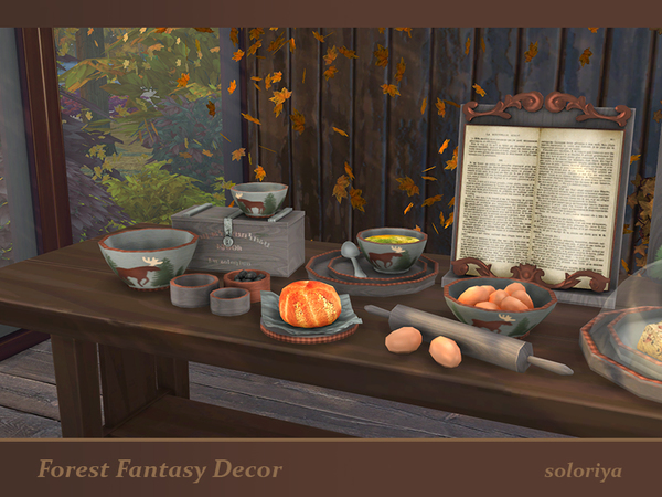 Forest Fantasy Decor set by soloriya at TSR image 5918 Sims 4 Updates