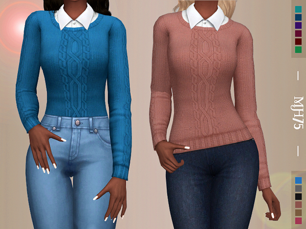 Sims 4 BF College Top by Margeh 75 at TSR