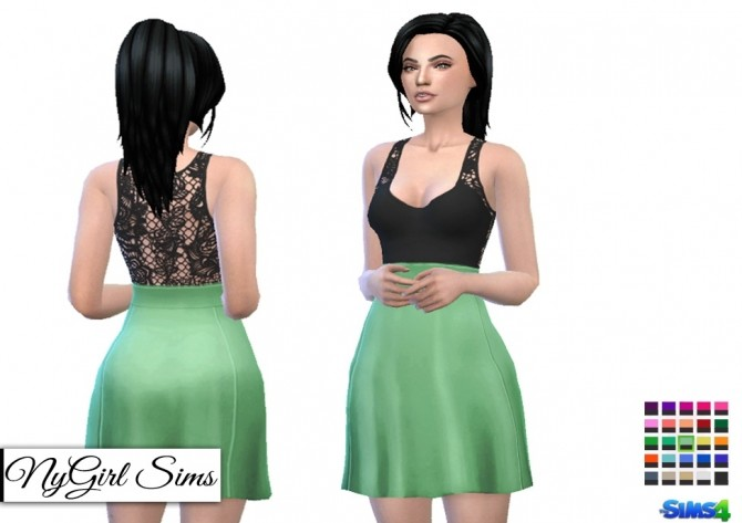 Cutout Lace Tank Flare Dress at NyGirl Sims image 596 670x473 Sims 4 Updates