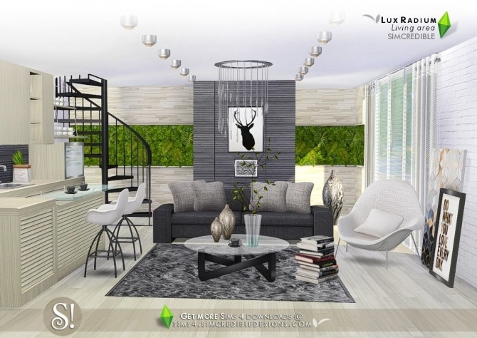 Lux Radium Living Area 13 Meshes At SIMcredible! Designs 4