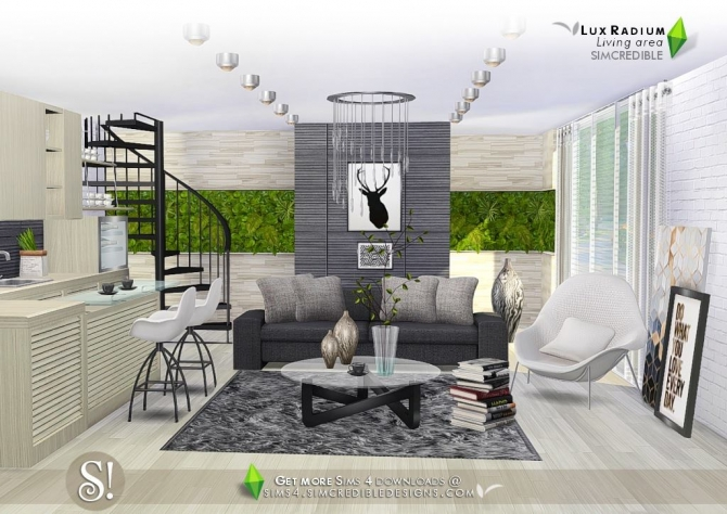 Lux Radium Living Area 13 Meshes At Simcredible Designs 4