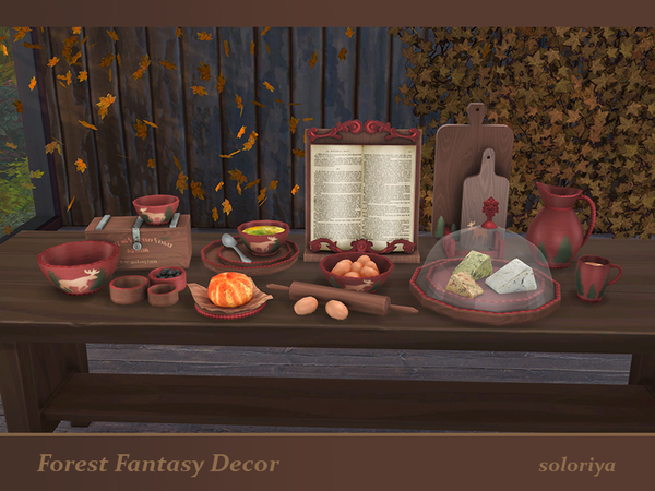 Forest Fantasy Decor set by soloriya at TSR image 6017 Sims 4 Updates