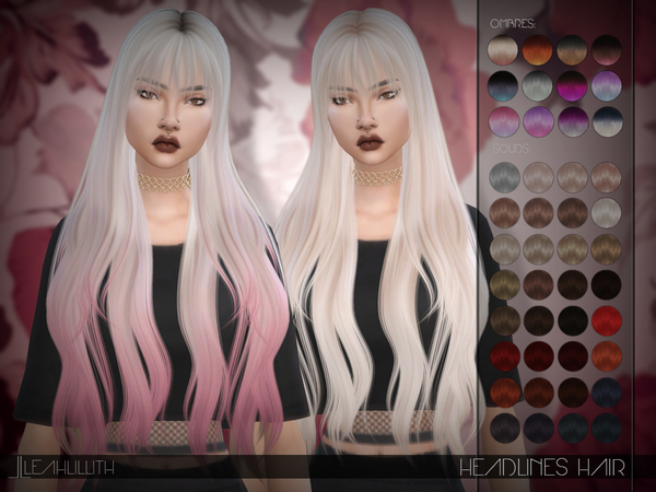 Headlines Hair by LeahLillith at TSR image 604 Sims 4 Updates
