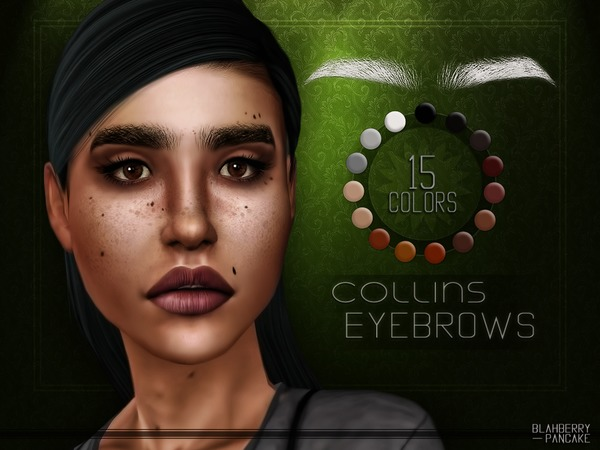 Sims 4 Collins Eyebrows by Blahberry Pancake at TSR