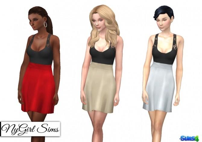 Cutout Lace Tank Flare Dress at NyGirl Sims image 6111 670x473 Sims 4 Updates