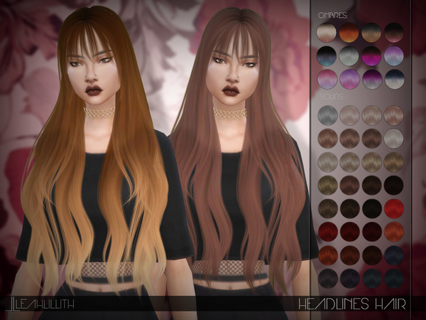 Headlines Hair by LeahLillith at TSR image 618 Sims 4 Updates