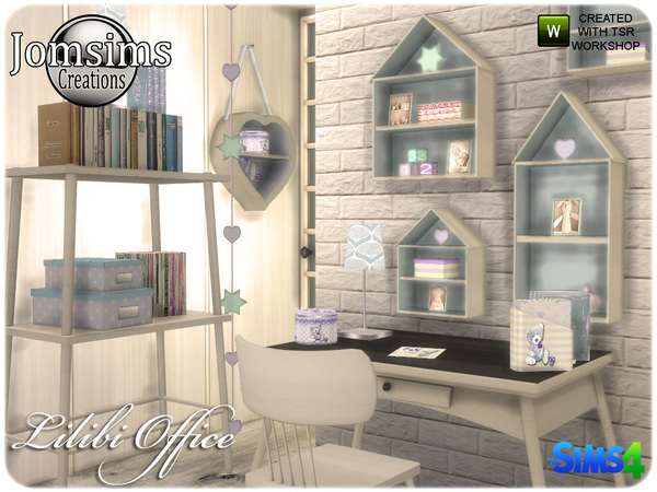 Lilibi office by jomsims at TSR image 620 Sims 4 Updates