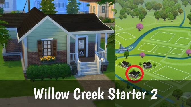 Sims 4 Willow Creek Starter 2 No CC by PepeLover69 at Mod The Sims