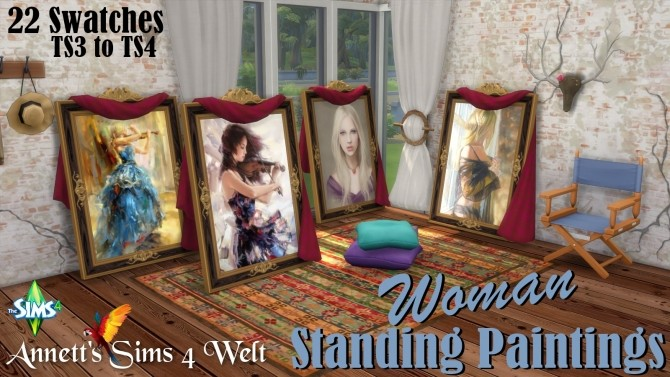 Woman Standing Paintings at Annett's Sims 4 Welt image 626 670x377 Sims 4 Updates