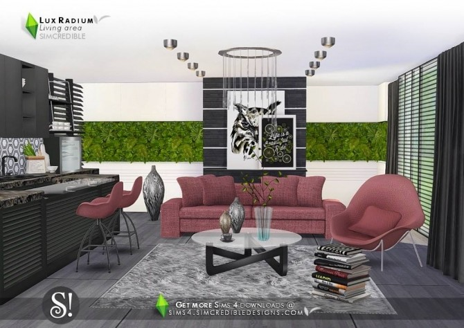 Lux Radium living area 13 meshes at SIMcredible! Designs 4 image 628 670x474 Sims 4 Updates