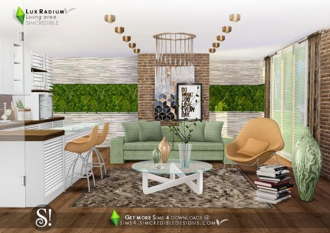 Lux Radium living area 13 meshes at SIMcredible! Designs 4 image 637 670x474 Sims 4 Updates