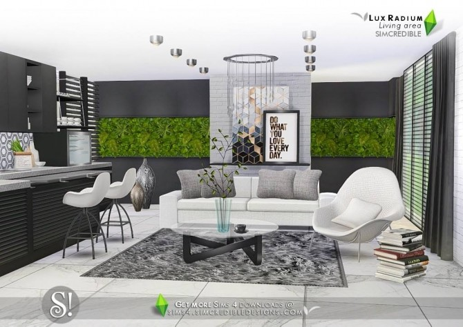 Lux Radium living area 13 meshes at SIMcredible! Designs 4 image 646 670x474 Sims 4 Updates