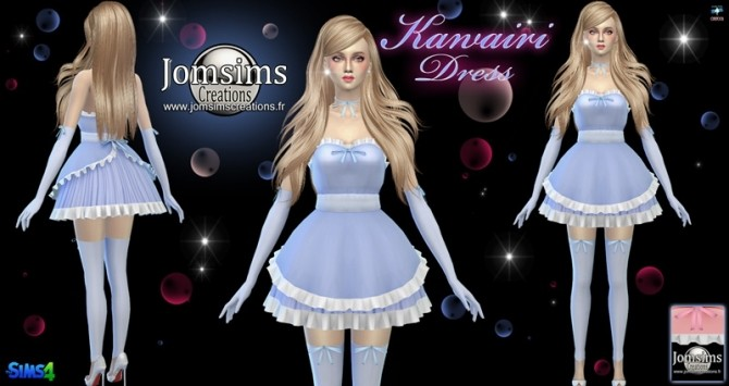 Kawairi maid dress at Jomsims Creations image 658 670x355 Sims 4 Updates