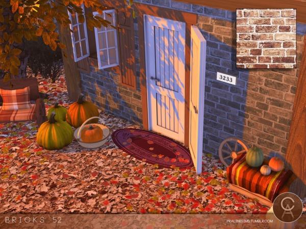Sims 4 Bricks 52 walls by Pralinesims at TSR